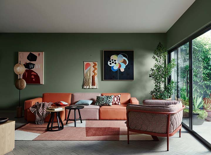 Tam Design 10 xu huong mau son nha dep hien dai xanh la - Xu Hướng Màu Sơn Nhà Đẹp Hiện Đại Nhất Trong Năm 2020